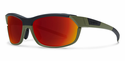 Smith Performance Pivlock Overdrive Sunglasses Matte Olive Black Carbonic Red Sol-X Mirror