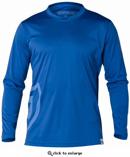 Stormr Men's Long Sleeve UV Shield Shirt - Blue