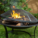 Sun Joe 30 In. Fire Pit w/Dome Screen and Poker