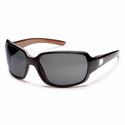 Suncloud Injection Cookie Black Backpaint Polarized Gray Sunglasses