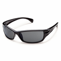 Suncloud Injection Hook Black Polarized Gray Sunglasses
