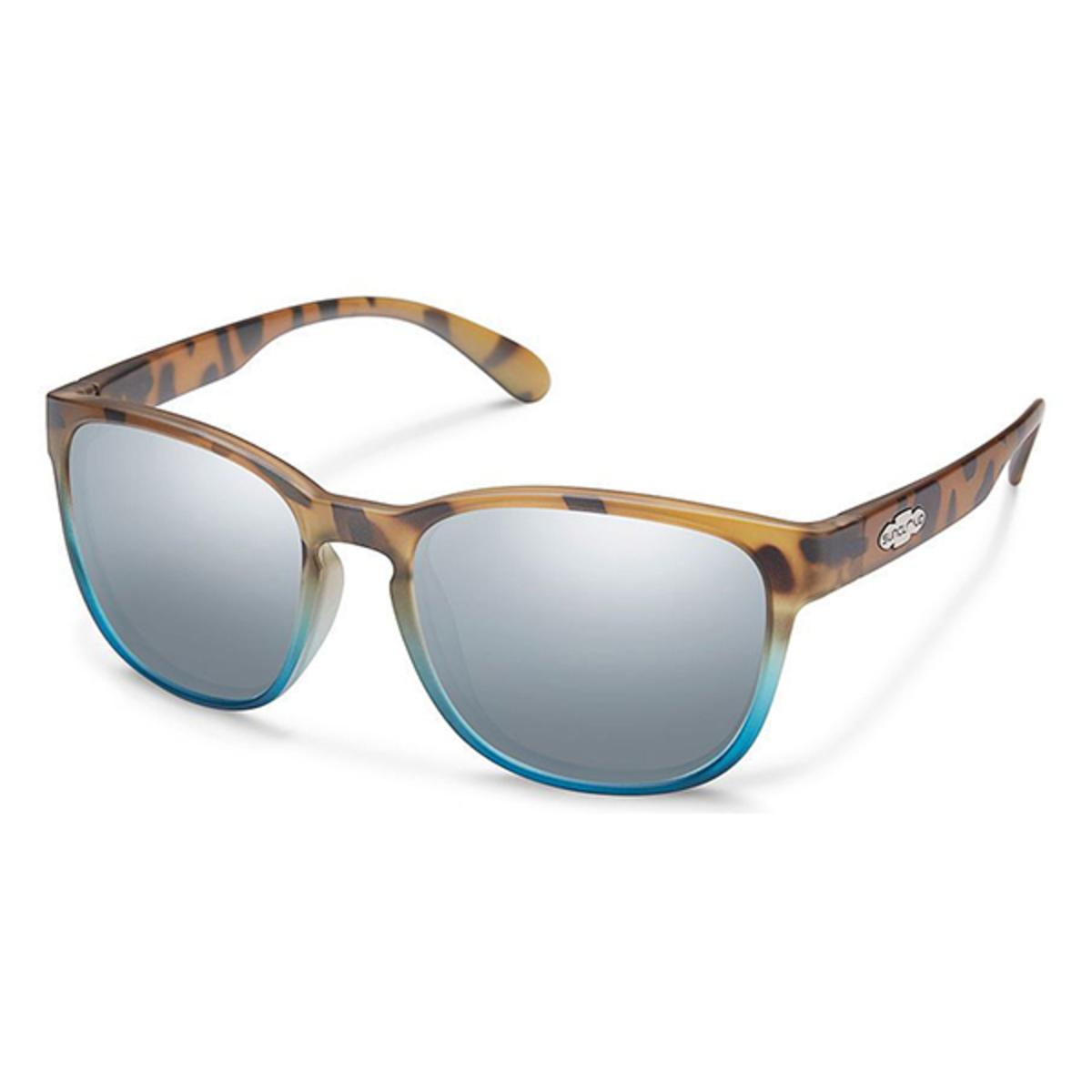 10322e54ff Suncloud Injection Loveseat MT Tort Blue Fade Polarized Silver Mirror  Sunglasses - The Warming Store
