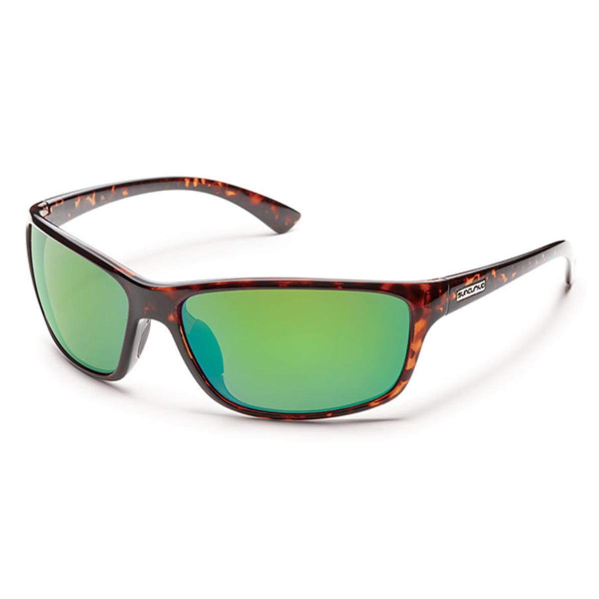 361fb296021 Suncloud Injection Sentry Tortoise Polarized Green Mirror Sunglasses - The  Warming Store