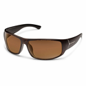 Suncloud Injection Turbine Blackened Tortoise Polarized Brown Sunglasses