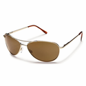 Suncloud Metals Patrol Gold Polarized Brown Sunglasses