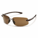 Suncloud Rimless Excursion Tortoise Polarized Brown Sunglasses