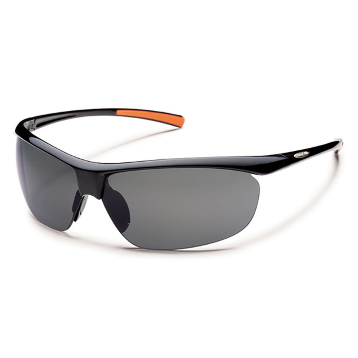 831e82667f Suncloud Rimless Zephyr Black Polarized Gray Sunglasses - The Warming Store