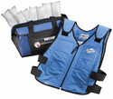 Techniche TechKewl Phase Change Cooling Vest with Inserts and Cooler - Blue
