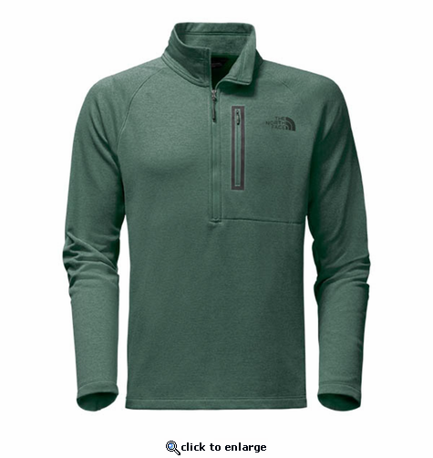 The North Face Men's Canyonlands 1/2 Zip - Silver Pine Green Heather