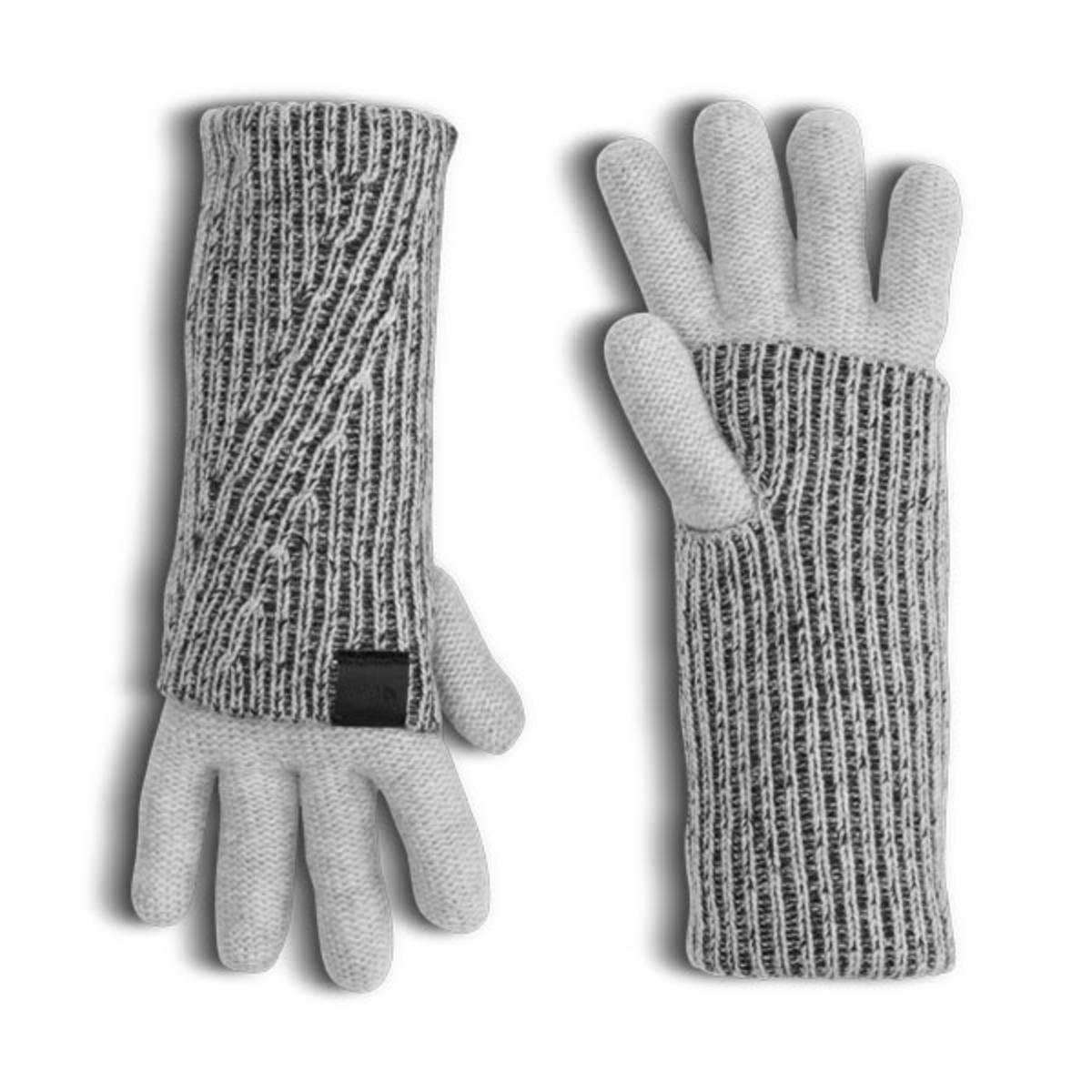 The Cryos Cashmere Fold-Over Glove is knitted with sumptuously soft cashmere with a ribbed cuff. This glove features convenient thumbholes so it can be worn rolled up for maximum warmth from the elements. FEATURES:  100% cashmere wool Technical cashmere for warmth Long cuff can be folded over for additional warmth Drop color; JBV - TNF Medium Grey Heather Std (11/15/2016) Colors: Light Grey Heather & Black Heather(STD) Sizes: S/M, L/XL