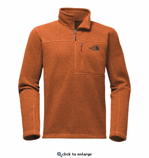 The North Face Men's Gordon Lyons 1/4 Zip - Autumnal Orange Heather