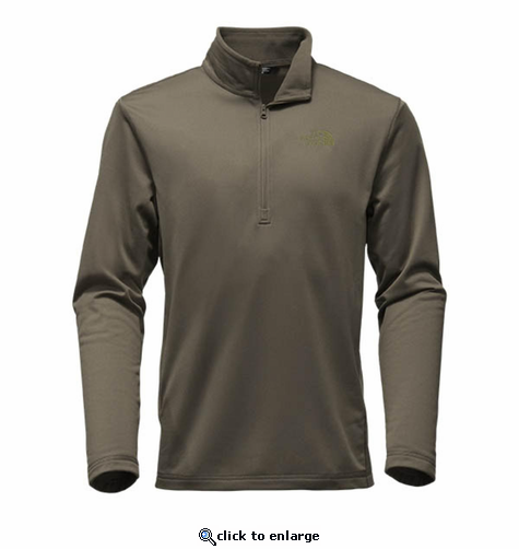 The North Face Men's Tech Glacier 1/4 Zip - New Taupe Green