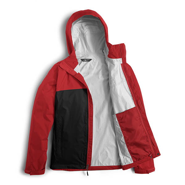 The North Face Men S Venture 2 Jacket Black Centennial Red The