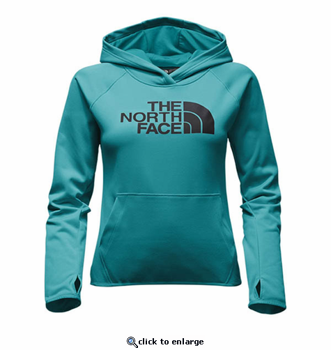 The North Face Women's Fave Half Dome Pull-Over Hoodie - Vistula Blue/Asphalt Grey
