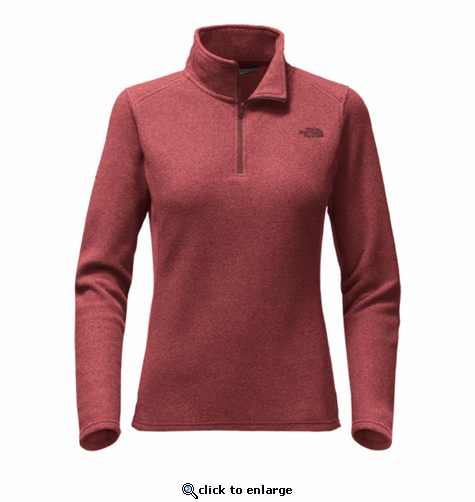 The North Face Women's Glacier 1/4 Zip - Barolo Red Heather