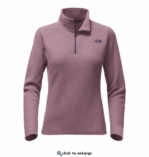 The North Face Women's Glacier 1/4 Zip - Black Plum Heather