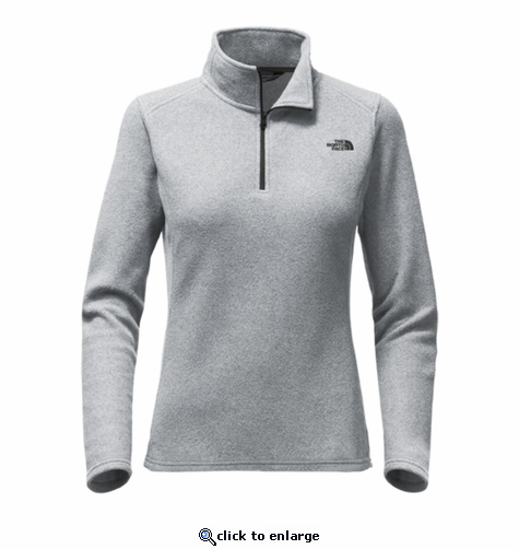 The North Face Women's Glacier 1/4 Zip - Medium Grey Heather