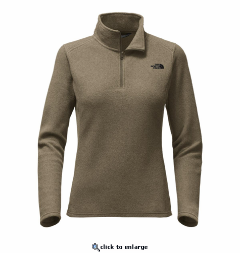 The North Face Women's Glacier 1/4 Zip - New Taupe Green Heather