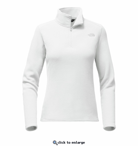 The North Face Women's Glacier 1/4 Zip - White/High Rise Grey