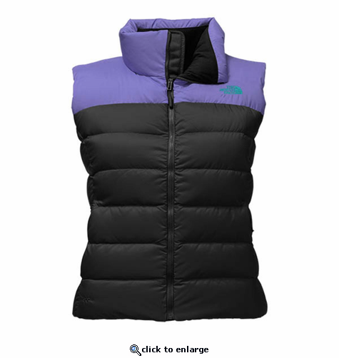 5de171b5582b The North Face Women s Nuptse Vest - Black Bright Navy - The Warming ...