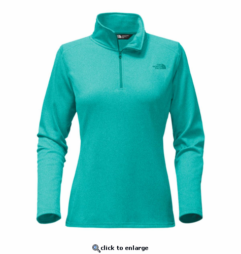 The North Face Women's Tech Glacier 1/4 Zip - Harbor Blue Heather