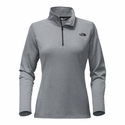 The North Face Women's Tech Glacier 1/4 Zip - Medium Grey Heather