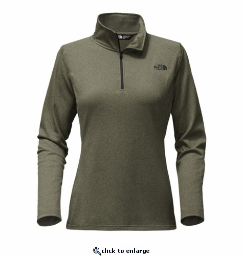 The North Face Women's Tech Glacier 1/4 Zip - New Taupe Green Heather