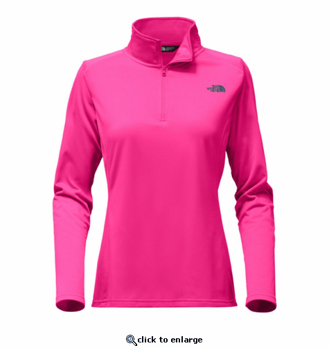 The North Face Women's Tech Glacier 1/4 Zip - Petticoat Pink