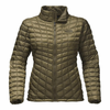The North Face Women's Thermoball Full Zip - Burnt Olive Green