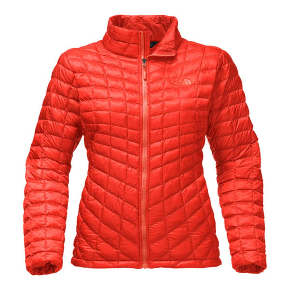 The North Face Women S Thermoball Full Zip Fire Brick Red Warming