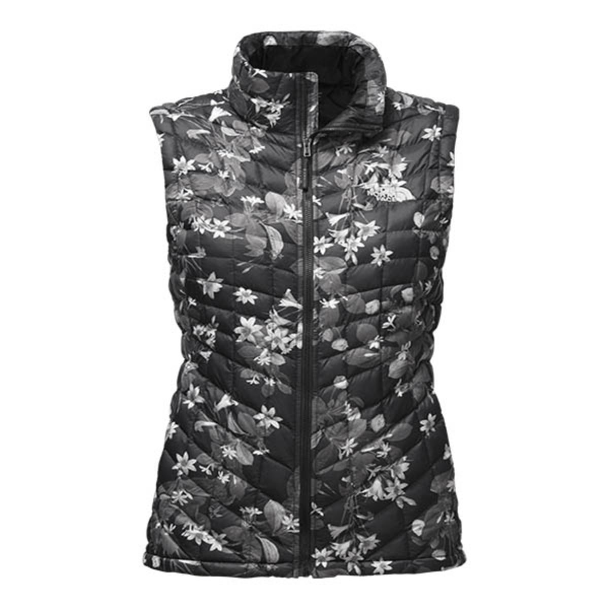 The North Face Womens Thermoball Vest Black Late Bloomer Print