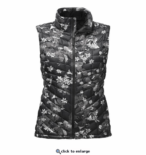 The North Face Women's Thermoball Vest - Black Late Bloomer Print