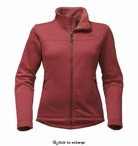 The North Face Women s Timber Full Zip - Barolo Red - The Warming Store 79b189aa9