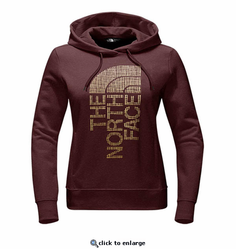 The North Face Women's Trivert Pull-Over Hoodie - Barolo Red Heather/Gold Foil