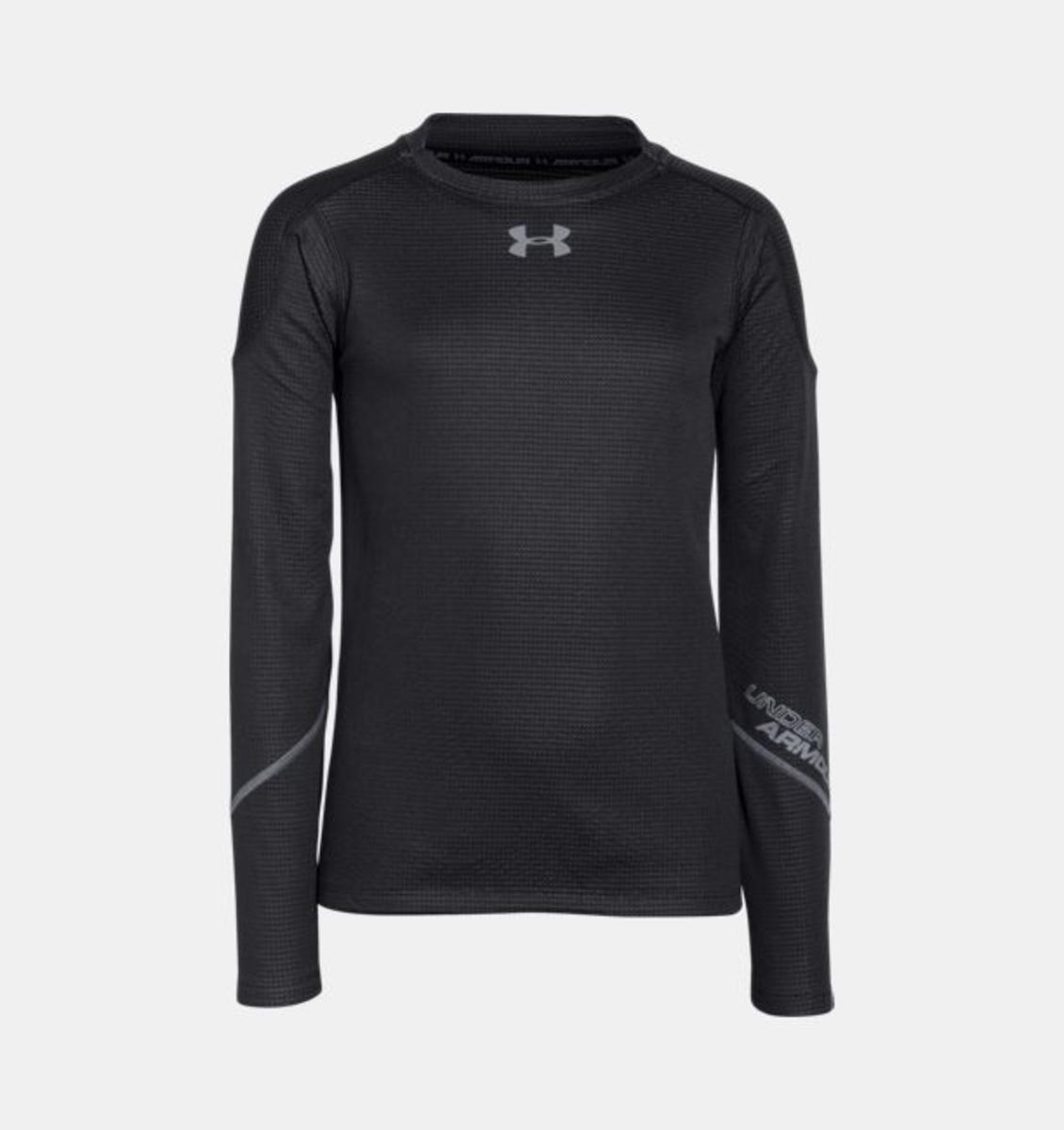 Under Armour Boys Ua Coldgear Infrared Grid Hybrid Mock Shirt