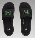 Under Armour Men's UA Ignite Slides - Black/Laser Green