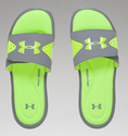 Under Armour Men's UA Ignite Slides - Steel/High/Vis Yellow