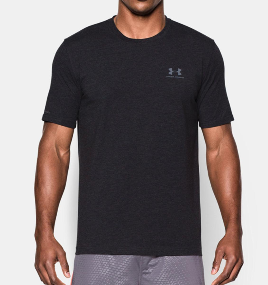 Under Armour Mens Ua Charged Cotton Sportstyle T-shirt Black/steel