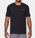 Under Armour Men's UA Charged Cotton Sportstyle T-Shirt - True Gray Heather/Red