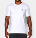 Under Armour Men's UA Charged Cotton Sportstyle T-Shirt - White/Graphite