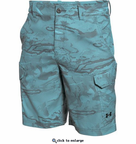 Under Armour Men's UA Fish Hunter Cargo Short - Caribbean Blue/Black
