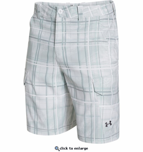 Under Armour Men's UA Fish Hunter Cargo Short - White/Graphite