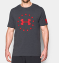 Under Armour Men's UA Freedom T-Shirt - Carbon Heather/Red