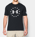 Under Armour Men's UA Freedom T-Shirt - Carbon Heather/Rocket Red