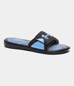 Under Armour Men's UA Ignite Banshee II Slides - Black/Steel/Carolina Blue