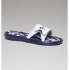 Under Armour Men's UA Ignite Banshee II Slides - White/Metallic Silver/Midnight Navy