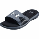 Under Armour Men's UA Ignite Slides - Graphite/Black/Metallic Silver