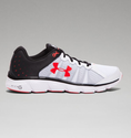Under Armour Men's UA Micro G Assert 6 Running Shoes - White/Black/Rocket Red