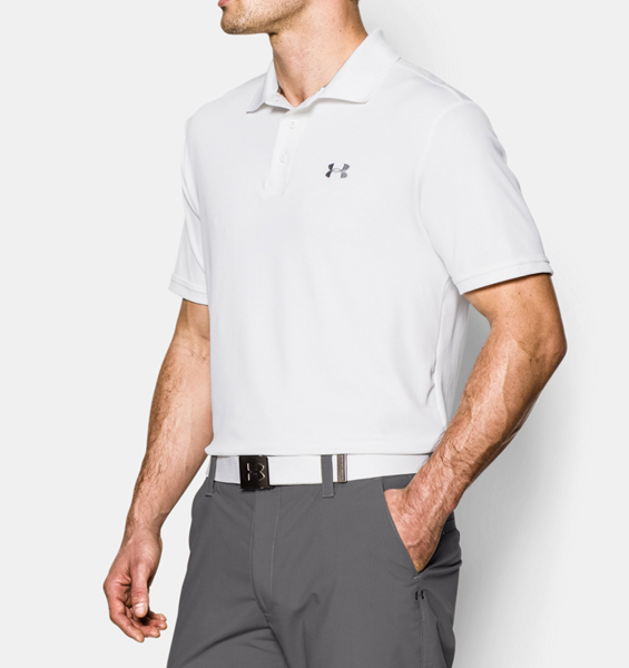 086ba92c1a8 Under Armour Men s UA Performance Polo Shirt - White Steel - The Warming  Store