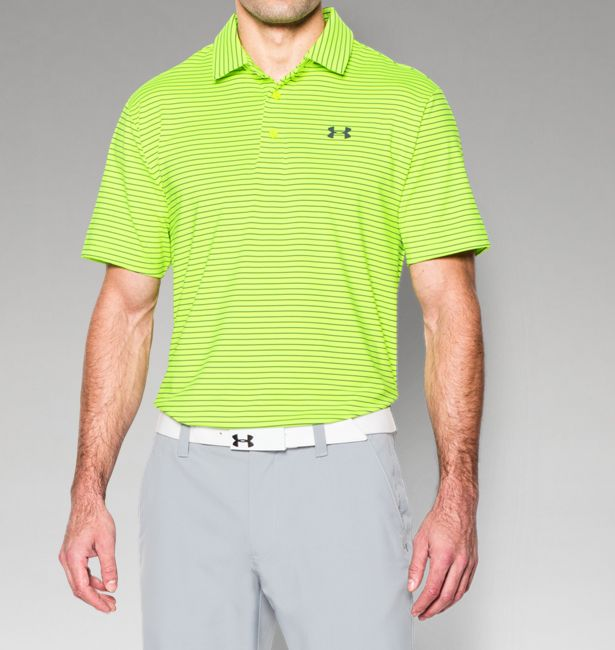 Under Armour Men s UA Playoff Polo Shirt - Fuel Green Fuel Green Stealth  Gray - The Warming Store 98cc86575